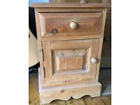 Bedside Cabinet Solid pine