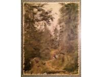 Antique small Painting on canvas