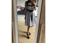 Black-white polka dot petticoat dress size S