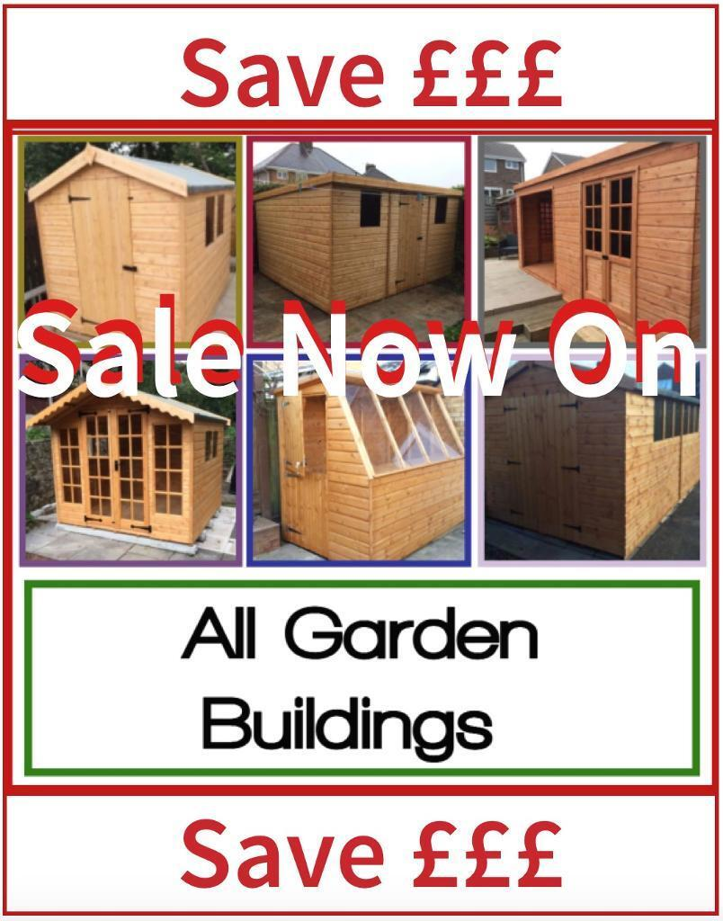 6x6 quality apex roof garden sheds all sizes available