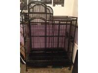 Huge black parrot cage