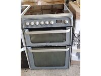 6 MONTHS WARRANTY Triple Glazed Hotpoint HUE61 60cm, double oven electric cooker FREE DELIVERY