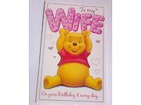 """30 CARDS - Large Disney's """"To My Wife"""" Birthday Cards"""