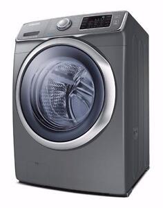 Laveuse à chargement frontal de 4,8 pi³ en Acier inoxidable Samsung ( WF42H5600AP )