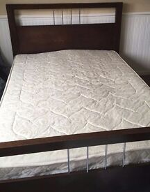 Double bed frame from Next, including mattress