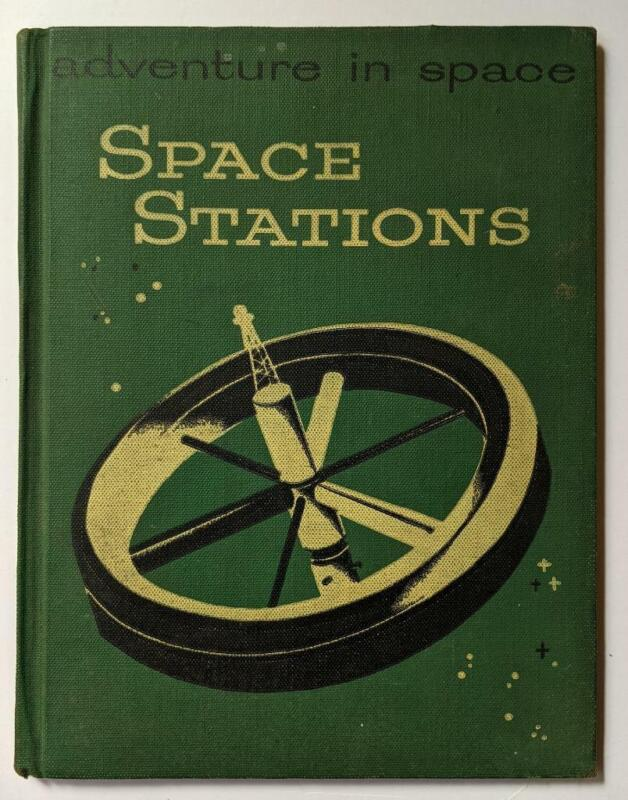 VINTAGE SPACE AGE 1958 SPACE STATIONS by WILLY LEY, Guild Press POUGHKEEPSIE, NY