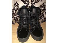 Giuseppe Zanotti Black Patent Leather trainers UK10