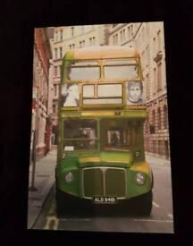 London bus canvas green
