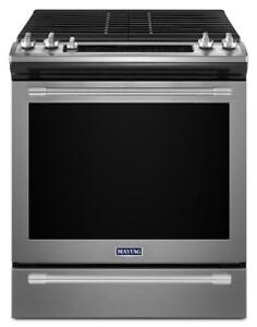 Maytag MGS8800FZ 30 Gas Range With Self Clean, Convection And 5 Sealed Burners Warming Drawer, 5.8 cubic ft, Slide In