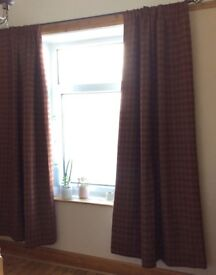"""Stunning NEW heavy weight curtains. Fully lined, thermal & blackout. Extra long 92"""" length"""