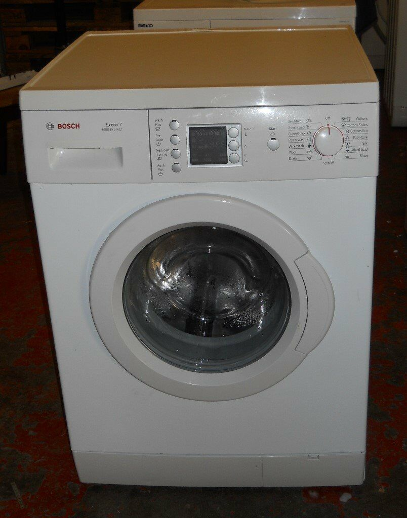 Bosch Exxcel7 1400 Express Washing Machine 7kg load New Bearings Door Seal AA Fully serviced