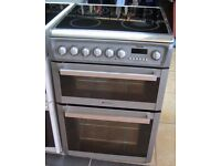 GREY HOTPOINT 60cm ELECTRIC COOKER, NEW MODEL ,EXCELLENT CONDITION, 4 MONTHS WARRANTY