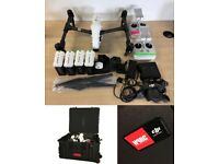 DJI Inspire 1, Dual Controllers, 5x Batteries and Flight case