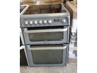 6 MONTHS WARRANTY Hotpoint HUE61 AA energy rated, double oven electric cooker FREE DELIVERY