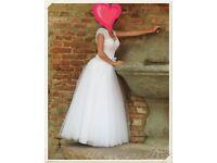 Beautiful wedding dress, white, XS - S