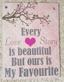 Cute love quote metal sign