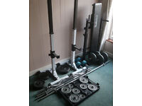 Cast Iron Weight Plates, Various Bars, Bench, Squat Stands. for sale  Norfolk