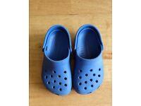 Boy's blue Crocs size 8/9