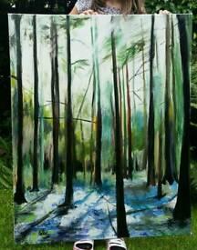 Original large painting - Forrest