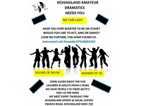 Amateur Dramatics/stage/dancing/singing