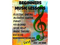 BEGINNERS Piano LESSONS TUITION SANDFORD WINSCOMBE FREE TRIAL KEYBOARD MUSIC TUTOR TEACHER