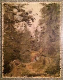 Antique Small Oil on canvas
