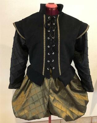 Mens Elizabethan Renaissance Hamlet Shakespeare Doublet & Slops/Breeches, S - XL - Hamlet Costumes