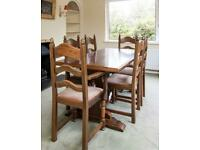 Dining Table & Chairs (Solid wood and 8 chairs)