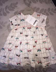 Next baby girl dress new with tags 1month