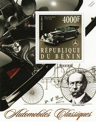 Karl Benz   1936 Mercedes Benz Type 770 K Classic Automobiles Car Stamp Sheet