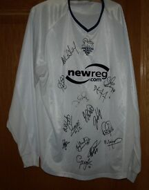 Preston North End Match Worn/Issue Autographed Shirt