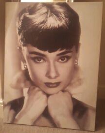 Audrey Hepburn Retro Canvwe Print