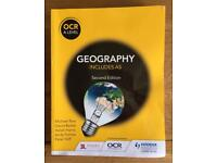 OCR A level georgraphy ( including AS level ) textbook