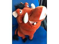 Disney Lion king Pumbaa cuddly toy.