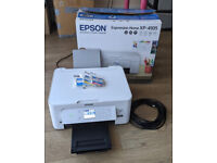 Epson Expression Home XP-4105 All-in-One Wireless Inkjet Printer - White w/ 8m USB cable