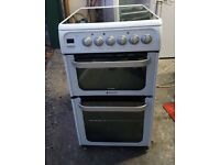 6 MONTHS WARRANTY Hotpoint HUE52 50cm, double oven electric cooker FREE DELIVERY