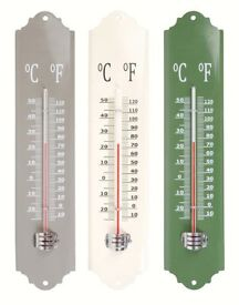 Metal Thermometer for outside or inside use **new unused**