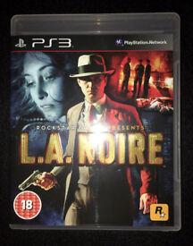 L.A. Noire PS3 Game