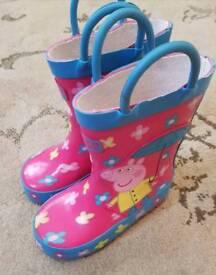 Peppa pig wellingtons boots like new