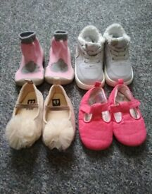 Bundle of baby shoes Nike, next