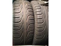 185 55 15 x2 pair Pirelli p6000 7mm+