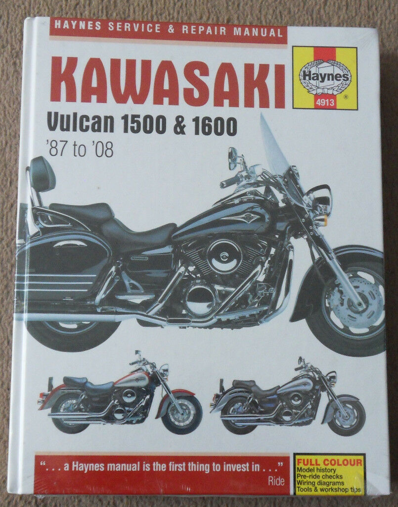 New Kawasaki Vulcan VN1500 & VN1600 1987-2008 Haynes Manual 4913 (Bath BA2)