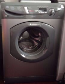 HOTPOINT WT741 ULTIMA 1400 SPIN WASHING MACHINE SILVER GOOD CONDITION