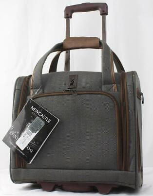 """LONDON FOG NEWCASTLE 15"""" 2 WHEELED UNDERSEATER CARRY ON SUIT"""
