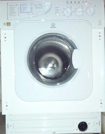 Indesit IWME 147 integrated washing machine. 7kg load, A energy rating, 1400 rpm spin