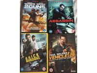 Action movies (DVD's)