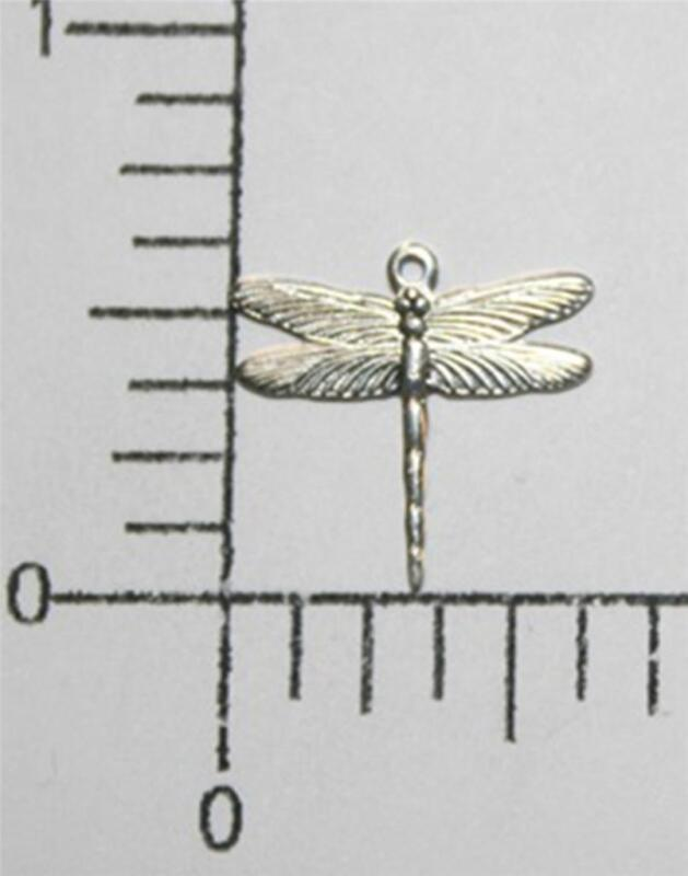 34314         3 Pc  Matte Silver Oxidized Dragonfly Jewelry Finding Charm