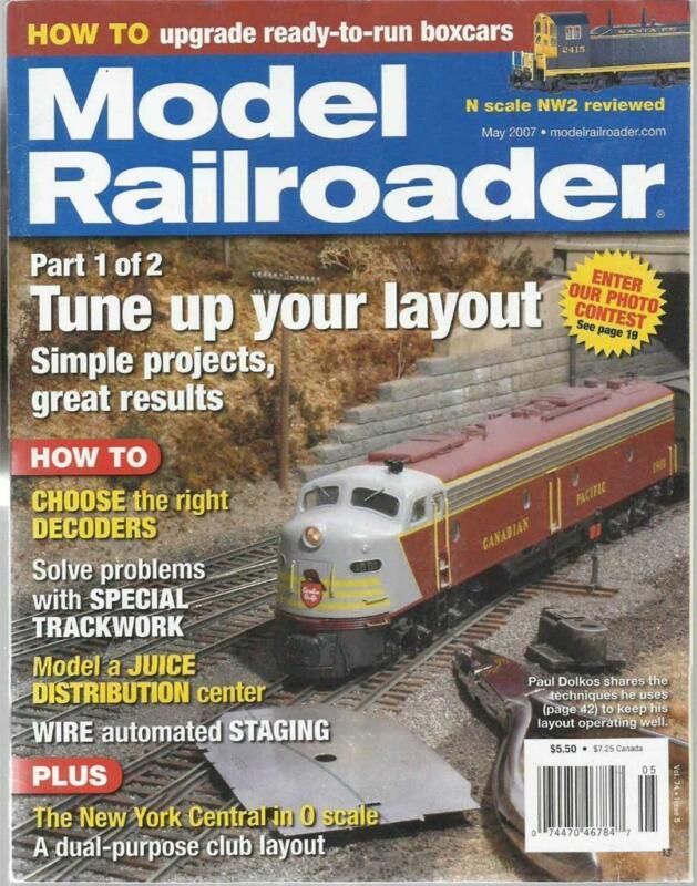Model Railroader May 2007 Model Juice Distribution Center New York Central O RR