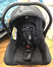 Joie Juva Classic Group 0+ Car Seat with belted 'click on, click off' car base.