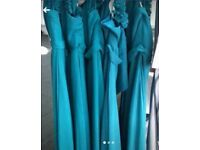 Teal Turquoise Bridesmaid or Prom Dresses
